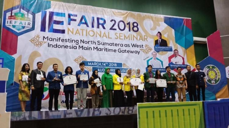 Mahasiswa DTI-ITS raih juara di IE Fair USU 2018